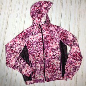 Champion Pink Full Zipper Hoodie Size Large